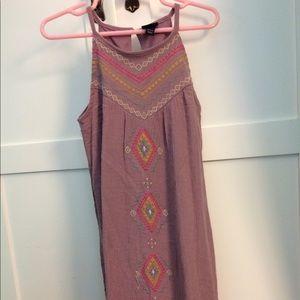 Boho Embroidered Maxi Dress Size 4/5